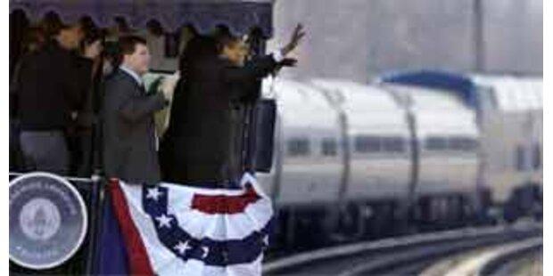 Zugfahrt zum Auftakt von Obamas Vereidigungsfeiern