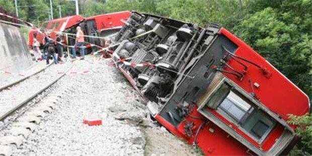 Schweres Zugunglück in der Schweiz