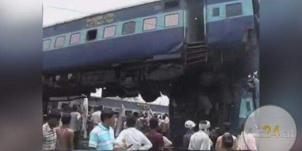 Indien: 60 Tote bei tragischem Zugunglück