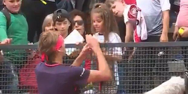 So süß entschuldigte sich Zverev bei Fan