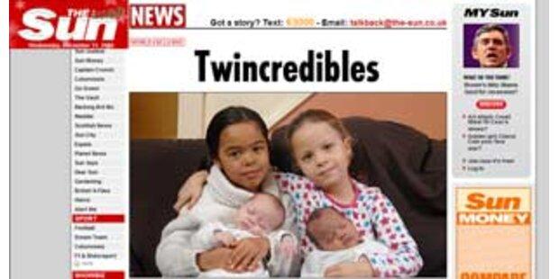 Zum 2. Mal verschiedenfarbige Zwillinge bekommen