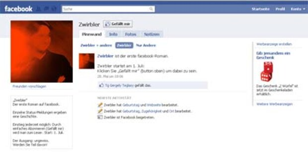 Nun kommt der erste Facebook-Roman