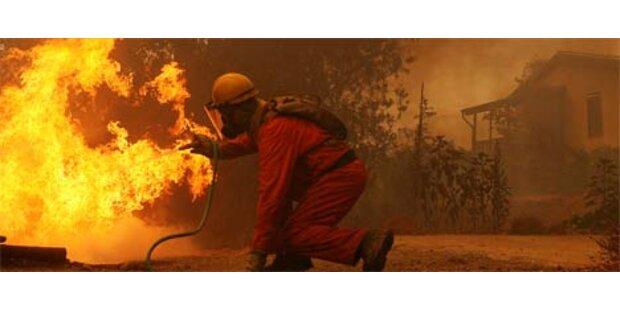 Waldbrände halten Griechenland in Atem
